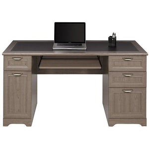 "Realspace Magellan Outlet Collection Managers Desk, 30""H x 58 3/4""W x 23 1/4""D, Gray"