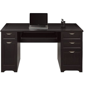 "Realspace Outlet  Magellan Collection Managers Desk, 30""H x 58 3/4""W x 23 1/4""D, Espresso"