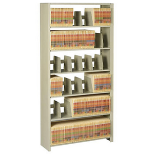 "Tennsco Outlet Snap-Together Open Shelving Unit, 88""H x 48""W x 12""D, Sand"