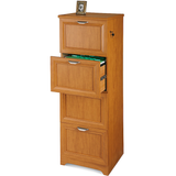 "(Scratch & Dent) Realspace Outlet Magellan Collection 4-Drawer Vertical File Cabinet, 54""H x 18 3/4""W x 19""D, Honey Maple"