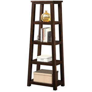 "Whalen Outlet Triton 5-Shelf Bookcase, 60""H x 23""W x 14""D, Walnut"