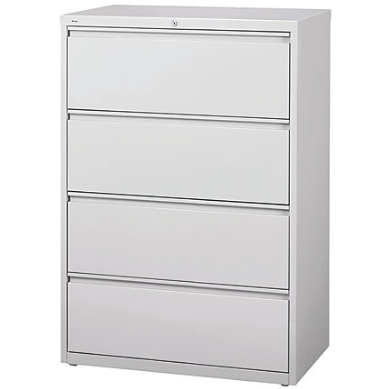 (Scratch & Dent) WorkPro Outlet Steel Lateral File, 4-Drawer, 40 1/4