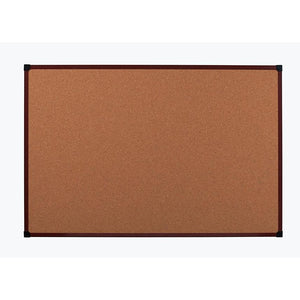 "Office Depot Outlet Brand Framed Cork Board, 72"" x 48"", Mahogany, Aluminum Frame"