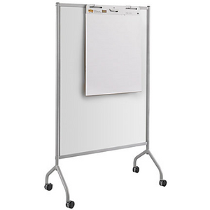 "Safco Outlet Impromptu Magnetic Whiteboard Screens, 72""H x 42""W x 21 1/2""D, White Frame, 352222, 8511GR"