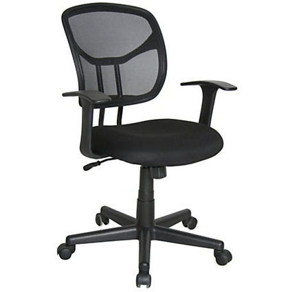 OFM Outlet Essentials Mesh Mid-Back Task Chair, Black, 614847, E1001