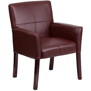 Flash Furniture Outlet Leather Side/Reception Chair, Burgundy, 677069, BT-353-BURG-GG