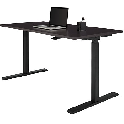 Realspace Outlet Magellan Steel/Wood Stand Up Height-Adjustable Desk, 43