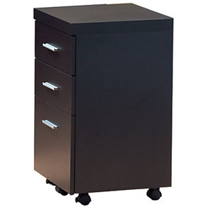 "Monarch Outlet Hollow-Core 3-Drawer File Cabinet With Casters, 27""H x 16""W x 16""D, Cappuccino, 980818, I 7013"