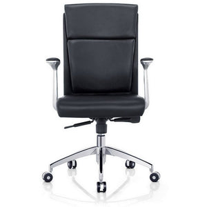 Harvard Low Back Office Chair, Faux Leather, Black