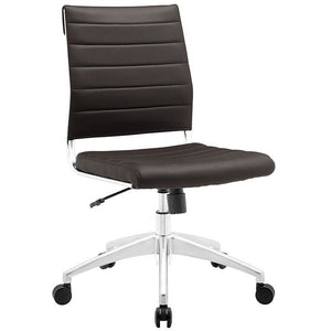 Aspire Armless Mid Back Office Chair in Brown