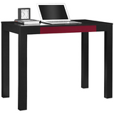 "Ameriwood Outlet Parsons Fiberboard Desk With Drawer, 30""H x 39""W x 20""D, Black/Red"