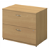 "Bush Outlet Components Collection 36"" Wide 2 Drawer Lateral File, 29 27/32""H x 35 2/3""W x 23 11/32""D, Light Oak"