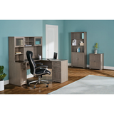 (Scratch and Dent) Realspace Outlet Magellan Collection L-Shaped Desk, Gray