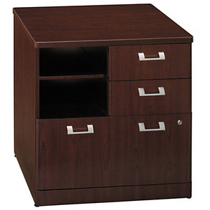 "(Scratch & Dent) BBF Outlet Quantum 30"" Storage File, 30""H x 29 1/4""W x 23 1/2""D, Harvest Cherry"