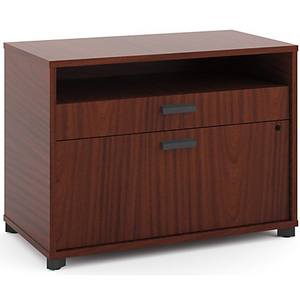 "(Scratch & Dent) Basyx by HON Manage Series Laminate Letter-Size Lateral File Center, 2-Drawer, 22""H x 30""W x 16""D, Chestnut"