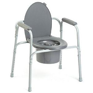 "Invacare Outlet All-In-One Aluminum Commode, 36""H x 24 1/4""W x 18 1/4""D, Gray"
