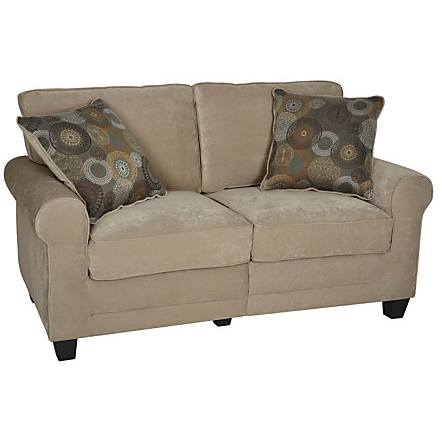 Serta Outlet RTA Copenhagen Collection Fabric Loveseat Sofa, Vanity Fabric, CR-43531PB