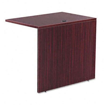 Alera Outlet Valencia Series Reversible Return Bridge Shell, 36L x 24H x 29 1/2W, Mahogany