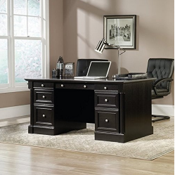 Sauder Outlet Avenue Eight Executive Desk In Wind Oak