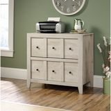 "Sauder Outlet Anywhere Solutions Filing Cabinet, 2 Drawers, 33 1/2""H x 36 3/10""W x 19 1/2""D, Chalked Chesnut"