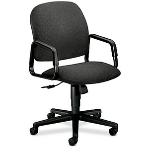 "HON Outlet Solutions Seating Executive High-Back Chair, 39 3/4""H x 26""W x 27""D, Blue/Black"