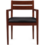 "Offices To Go Outlet Guest Chair, Wood,32 1/2""H x 23""W x 23""D, Cordovan"