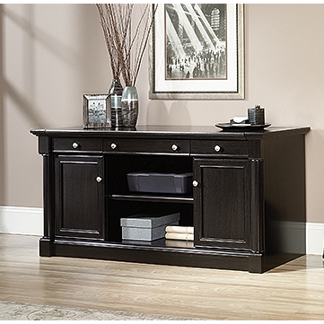 Sauder Outlet Palladia Collection Credenza With Slide-Out Desktop, Wind Oak