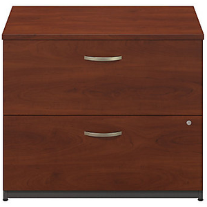 "Bush Business Furniture Outlet Components 2 Drawer Lateral File Cabinet, 36""W, Hansen Cherry/Graphite Gray"