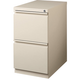 "(Scratch & Dent) WorkPro 20""D 2-Drawer Vertical Mobile Pedestal File Cabinet, 27 3/4""H x 15""W x 19 7/8""D, Putty"