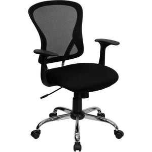 Mid-Back Black Mesh Executive Office Chair