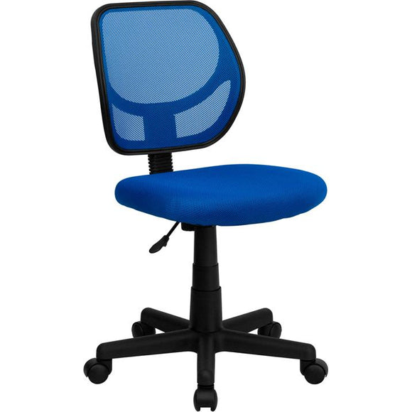 MID-BACK BLUE MESH SWIVEL TASK CHAIR