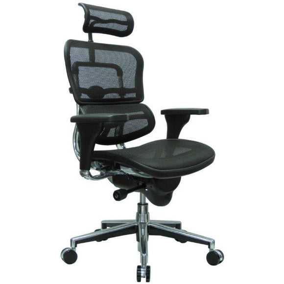 Ergohuman Chair High Back with Headrest and Mesh, ME7ERG