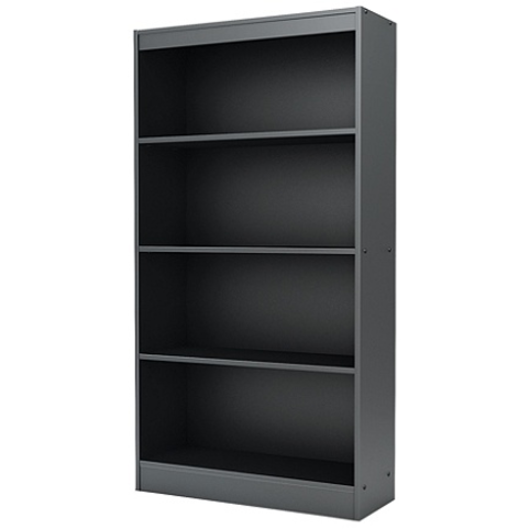 (Scratch & Dent) Outlet South Shore Furniture Axess 4-Shelf Bookcase, Black