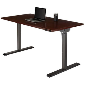 "(Scratch and Dent) Realspace OUTLET Magellan Performance Electric Height-Adjustable Wood 60""wide Desk, Cherry"