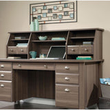 "(Scratch and Dent) Sauder Shoal Creek Organizer Hutch, 17 7/8""H x 65 1/8""W x 12 3/4""D, Diamond Ash"