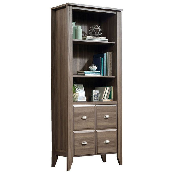 Sauder Outlet Shoal Creek 4-Shelf Bookcase With 2 Doors, Diamond Ash
