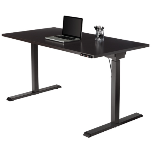 (Scratch and Dent) Realspace Outlet Magellan Performance Electric Height-Adjustable Wood Desk, Espresso