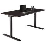 Realspace Outlet Magellan Performance Electric Height-Adjustable Wood Desk, Espresso