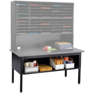 "Safco Outlet E-Z Sort Mailroom Furniture, Sorting Table, 28""H x 60""W x 30""D, Black"