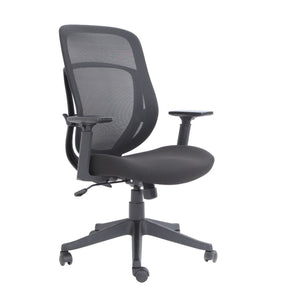 "Copley Executive High-Back Ergonomic Mesh Chair, 44""H x 26""W x 26""D, Black, Item # 820-20-240"