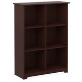 Bush Furniture Outlet Cabot 6 Cube Bookcase, Harvest Cherry