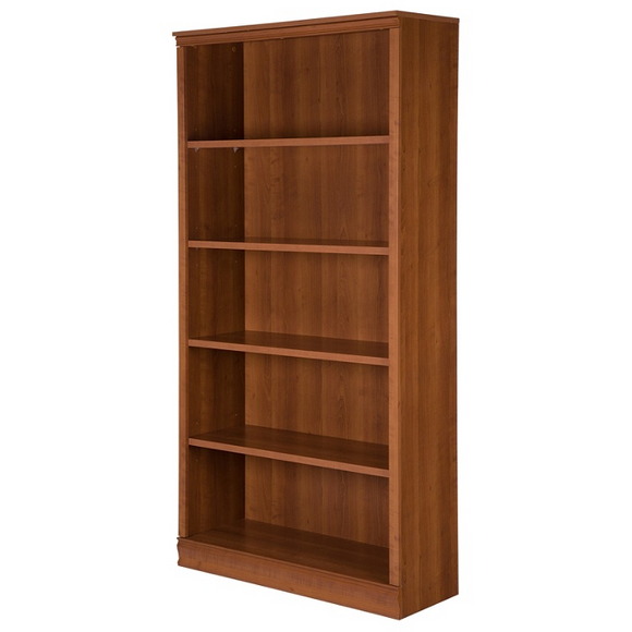 South Shore Outlet Morgan 5-Shelf Bookcase, Morgan Cherry