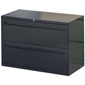 "HON¨ Brigade¨ 700 Series Lateral File, 2 Drawers, 28 3/8""H x 42""W x 19 1/4""D, Black"