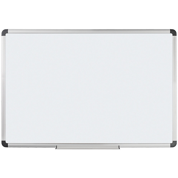 (Scratch & Dent) Foray Magnetic Dry-Erase Board With Aluminum Frame, 48