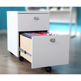 South Shore Interface Particleboard Letter/Legal-Size Lateral Mobile File Cabinet, 2 Drawers, Pure White Item # 337647