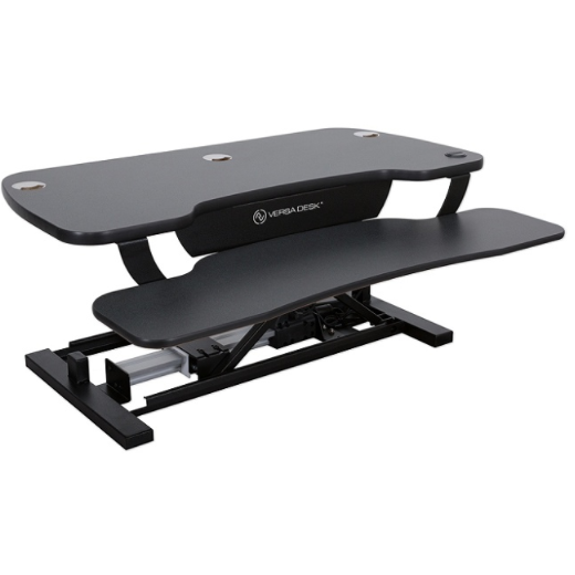 VersaDesk Power Pro Sit-To-Stand Height-Adjustable Electric Desk Riser, Black