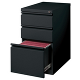 "WorkPro 20""D 3-Drawer Vertical Mobile Pedestal File Cabinet, Black Item # 1254466"