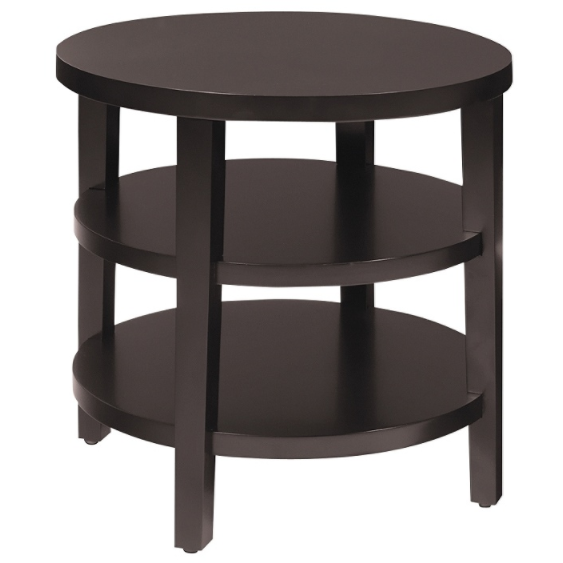 Office Star Ave Six Merge End Table, Round, Espresso Item # 1837963