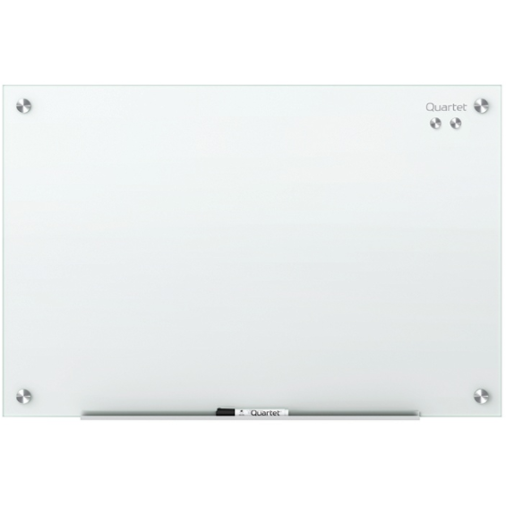 (Scratch & Dent) Quartet Infinity Magnetic White Glass Dry-Erase Board, 72