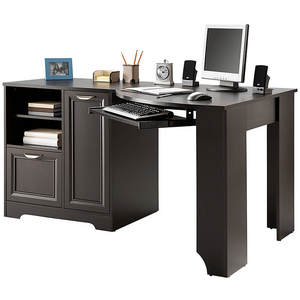 "(Scratch and Dent) Realspace Outlet Magellan 60""W Corner Desk, Espresso"